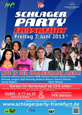 Schlagerparty in Frankfurt . Foto: vidamedia